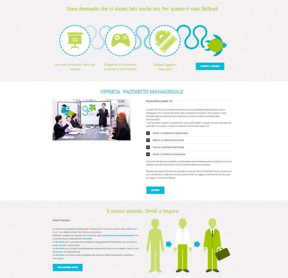 Grafica Sito Skilleyd | D2C srl | Digital Agency Milano | Al tuo cliente, direttamente