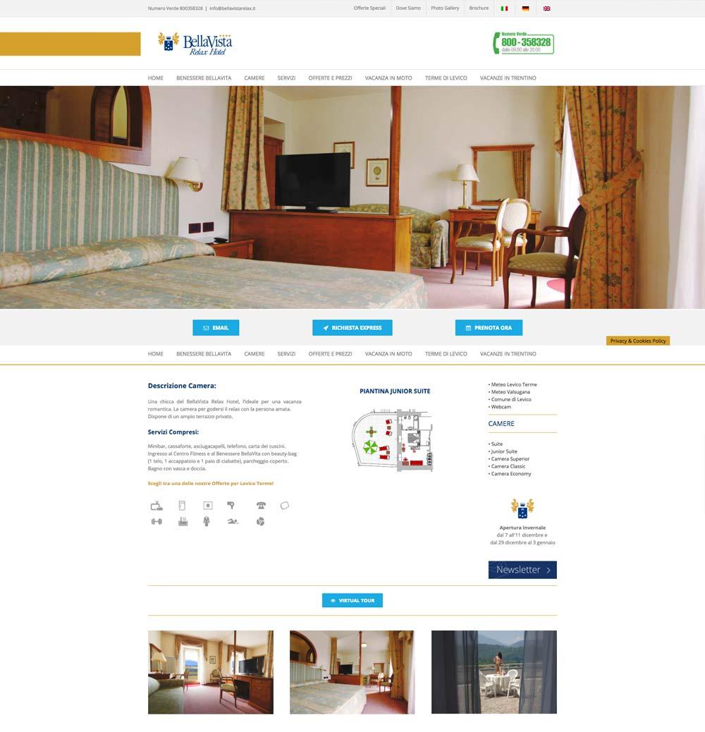 Sito BellaVista Relax Hotel Camera | D2C srl | Digital Agency Milano | Al tuo cliente, direttamente