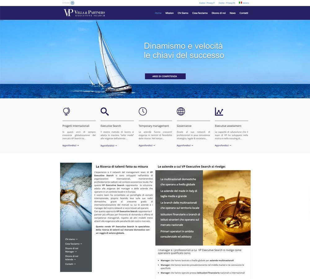 Sito Villa and Partners Home | D2C srl | Digital Agency Milano | Al tuo cliente, direttamente