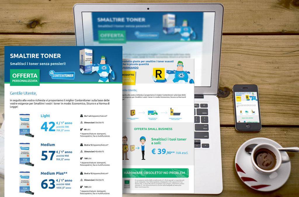 Newsletter Smaltire Toner | Digital Agency Milano | D2C srl - Al tuo cliente, direttamente
