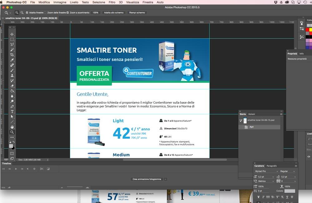 Progettazione invio Newsletter Smaltire Toner | D2C srl | Digital Agency Milano | Al tuo cliente, direttamente