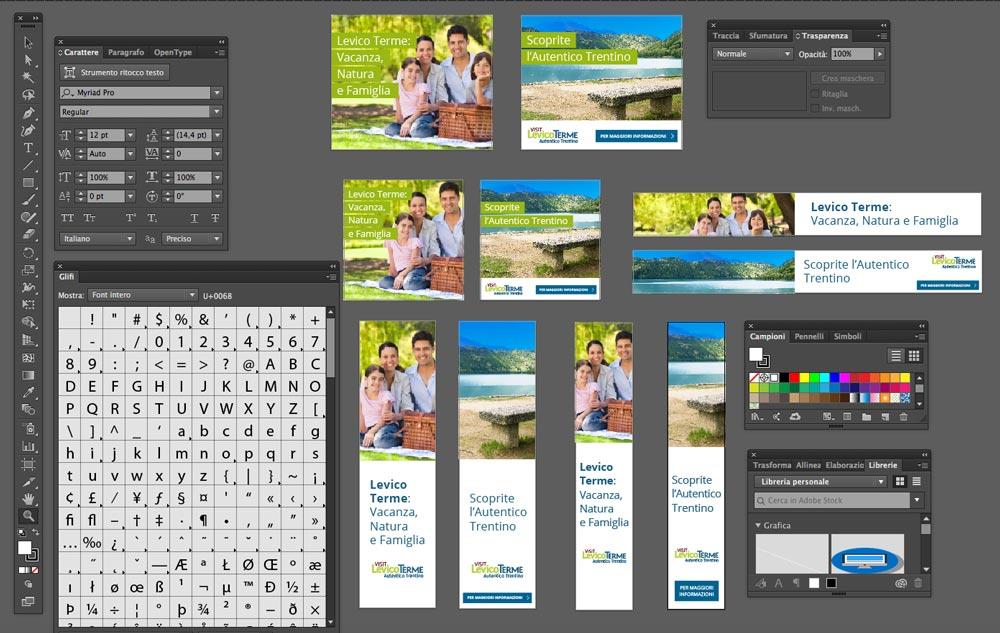 Progettazione Banner Visit Levico | D2C srl | Digital Agency Milano | Al tuo cliente, direttamente