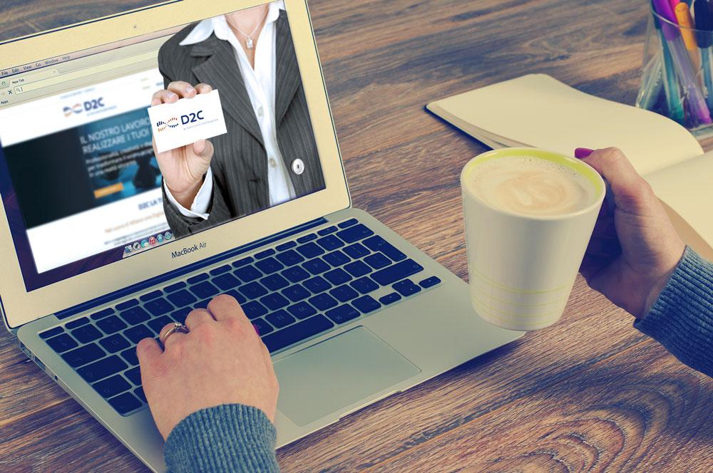 Sito web nuovo biglietto da visita | D2C srl | Digital Agency Milano | Al tuo cliente, direttamente