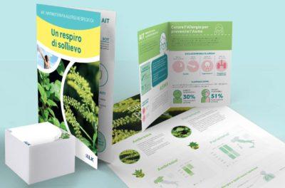 Campagna Ambrosia Parietaria Alk | Grafica & Impaginazione | D2C srl | Al tuo cliente, direttamente