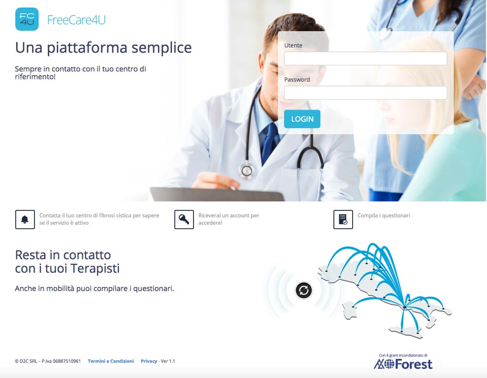 Web App Free Care 4 You | D2C srl | Digital Agency Milano | Al tuo cliente, direttamente
