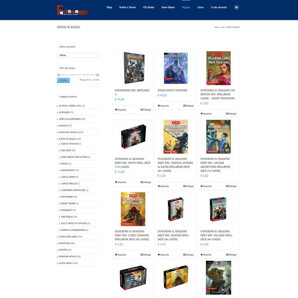 e-commerce Fantamagus | D2C srl | Digital Agency Milano | Al tuo cliente, direttamente