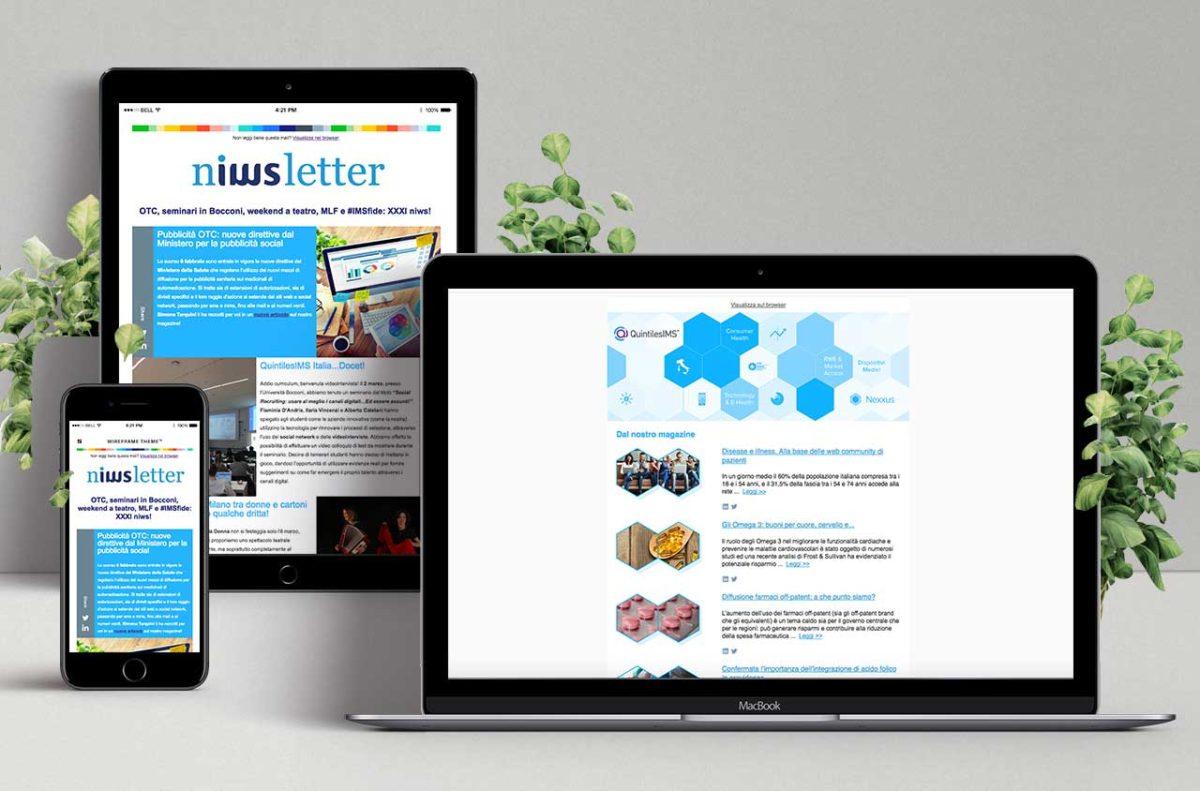Progettazione invio Newsletter QuintilesIMS | D2C srl | Digital Agency Milano | Al tuo cliente, direttamente